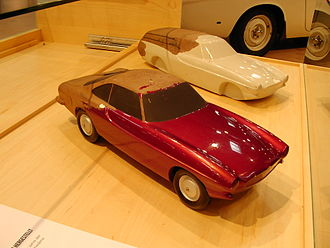 Volvo P1800 - Plaster models scale 1:10 based on Pelle Petterson prototyping used by Volvo design department from 1957 onward for considering design updates (estate)