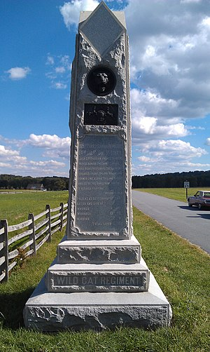 105th Pennsylvania Infantry - PA 105th Regiment Battle of Gettysburg Monument