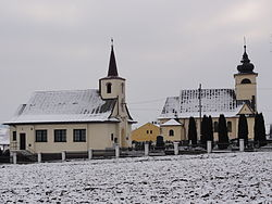 Lutheran (left) and Catholic (right) churches