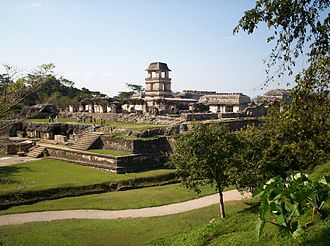 Architecture of Mexico - The Palace at Palenque.
