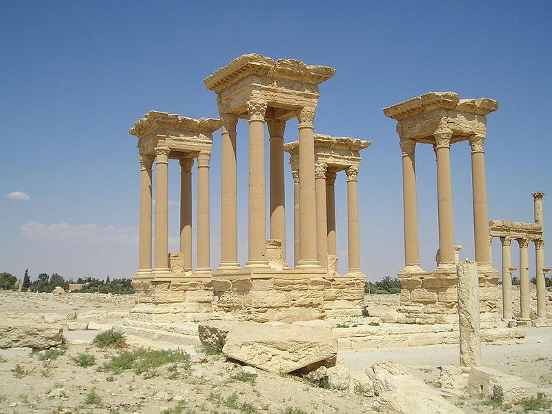 File:Palmyra-Tetrapylon.jpg