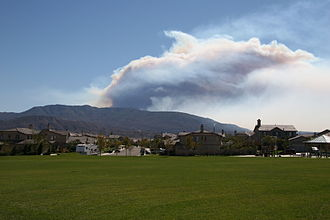 October 2007 California wildfires - The Poomacha Fire: photo taken looking South towards San Diego from Temecula
