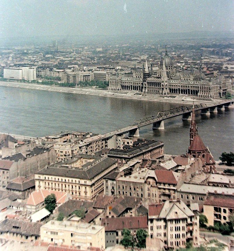 Az Országház és a Kossuth híd 1957-ben