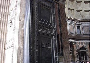 Pantheon (Rome) entrance door.jpg