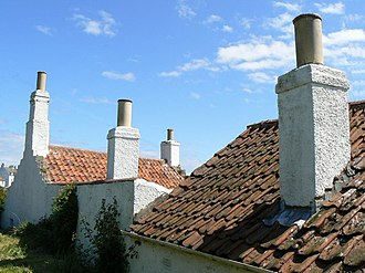 Pantile - Pantiles on a roof in Crail, Fife