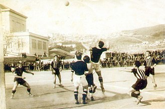 PAOK FC - Snapshot from the old Syntrivani stadium