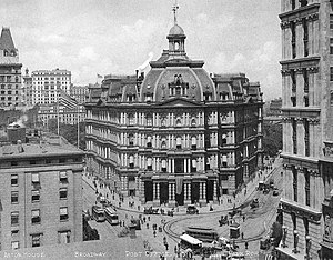 City Hall Post Office and Courthouse (New York City) - The City Hall Post Office and Courthouse, Ca. 1906