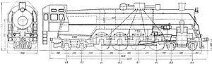 Russian locomotive class P36 - Class P36 locomotive elevation