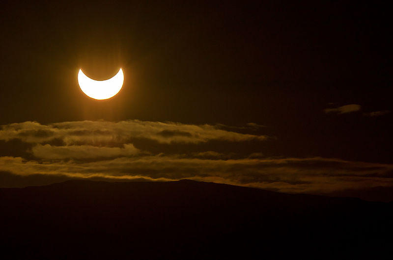 A partial solar eclipse seen from Norway in 2011. Credit: Rhys Jones (wikimedia)