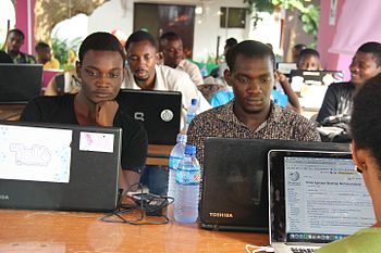 Participants of a training-editathon by Wikimedia Ghana Usergroup.jpg
