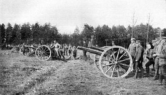 Artillery Battalion, 1st Infantry Brigade (Estonia) - Battery No 1 of the Estonian 1st Artillery Regiment during the fight against Landeswehr.