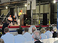 Pattie Hamilton at the keel laying ceremony of the USCGC Bernard C. Webber -- named after her father.jpg