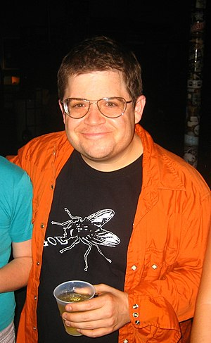 Comedian Patton Oswalt after a routine.