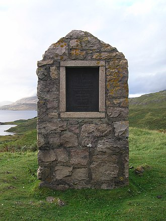 Inchnadamph - Peach and Horne monument