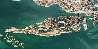 The Pearl-Qatar - Satellite image of The Pearl-Qatar
