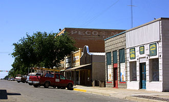 Pecos, Texas - Storefronts in downtown Pecos