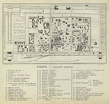 Detailed Map Of The Beijing Legation Quarter In 1912