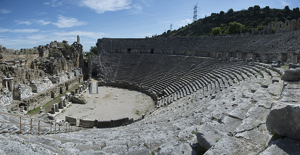 Perge theatre march 2018 Panorama 6072