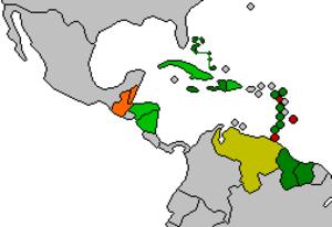 Petrocaribe - Image: Petrocaribe Map