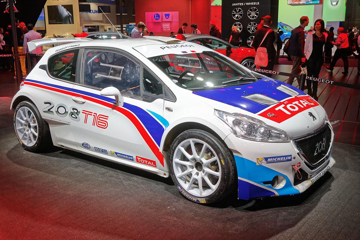 Peugeot 208 t16 wikipedia for Garage automobile paris 16