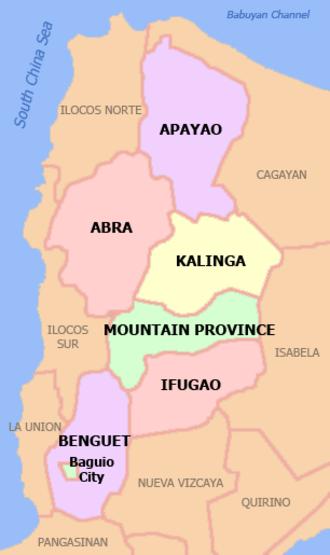 Igorot people - Political map of the Cordillera Administrative Region.