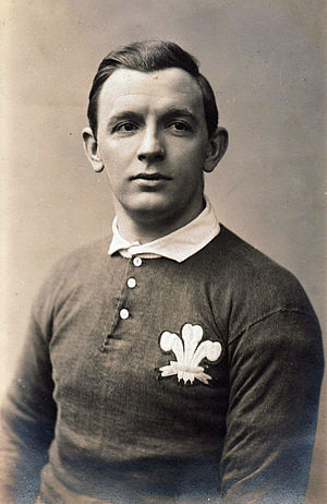 Phil Hopkins - Hopkins in Wales jersey
