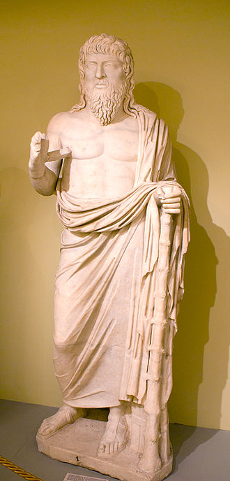 Apollonius of Tyana - A wandering philosopher, probably representing Apollonius of Tyana, who lived a part of his life in Crete and died there. Found in Gortyn (late 2nd century AD), now in Heraklion Archaeological Museum, Crete.