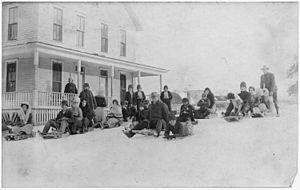 Wyandotte, Oklahoma - Seneca Indian School in 1905