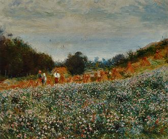 Berneval-le-Grand - Image: Pierre Auguste Renoir La Moisson
