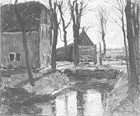 Piet Mondriaan - Boerderijen met bomen en sloot - A42 - Piet Mondrian, catalogue raisonné.jpg