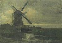 Piet Mondriaan - Broekzijder mill in the evening - A401 - Piet Mondrian, catalogue raisonné.jpg