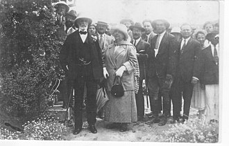 Adelheid von Rothschild - Adelheid and Edmond James de Rothschild in 1914 visit to Holy Land in then Palestine.