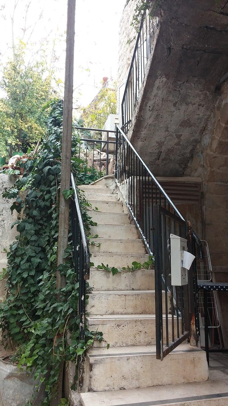 גרם מדרגות ברובע היהודי בצפת