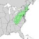 Pinus rigida range map.png