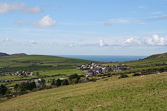 Llithfaen - Image: Pistyll, towards Llithfaen and Caernarfon Bay geograph.org.uk 55847