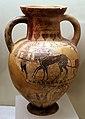 Pittore di paride, gruppo pontico, anfora etrusca con auriga, dalla banditaccia, 540-530 ac ca.jpg