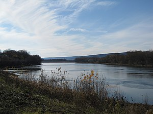 Exeter, Pennsylvania - The Susquehanna River just east of the borough.