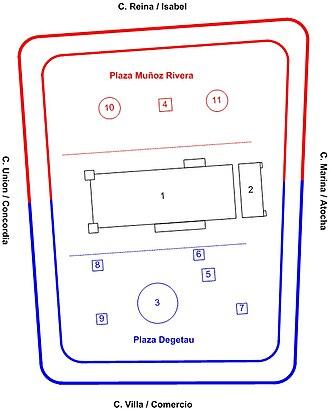 Plaza Las Delicias - Image: Plan of Plaza Las Delicias in Ponce, Puerto Rico 2
