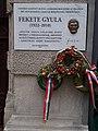 Plaque of Gyula Fekete, Kecskemeti Street, 2016 Budapest.jpg