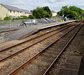 Platform 1 from platform 2 at Clunderwen railway station - geograph.org.uk - 4614728.jpg