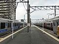 Platform of Araki Station (Kagoshima Main Line) 5.jpg