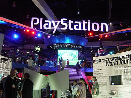 Promotion of the PlayStation at the Electronic Entertainment Expo 2003 PlayStation E3 2003.jpg