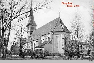 Polish minority in Russia - The Polish church in Steindamm was demolished by the Soviet administration in Kaliningrad in 1950.