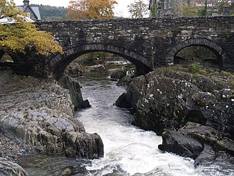Betws-y-Coed - Pont-y-Pair Bridge and River Llugwy