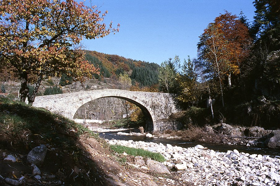 Photo du pont de Garnier prise en septembre 1992.