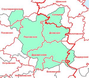 Карта Порховского Уезда