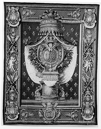 Portière - Image: Portiere with the Chauvelin arms from a set called a Chancellerie MET 174674