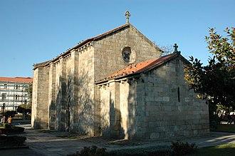 Church of São Martinho de Cedofeita - The rear oblique profile of the symmetrical church body