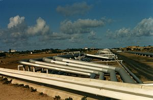 English: Pipeline near to Sines, in Portugal F...