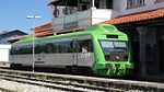 Portuguese Railways 0367 railcar at Marvao-Beira Railway Station.jpg